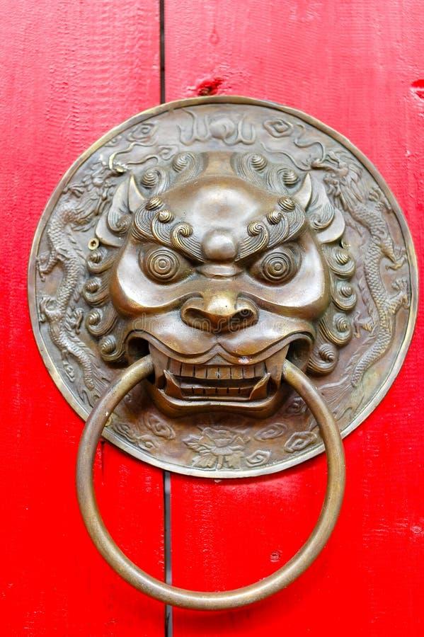 Download Brass Lion Door Knocker stock image. Image of door, hoop - 4614891