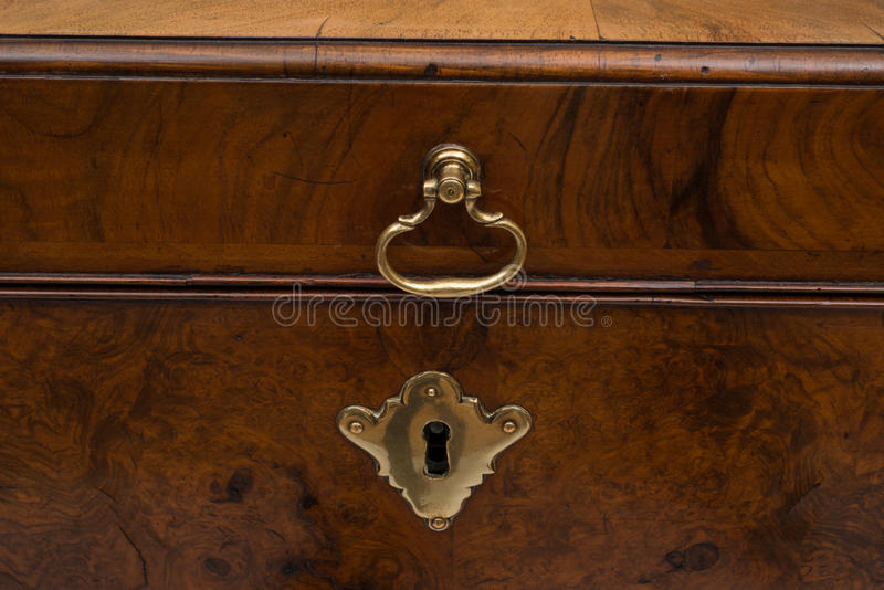 Download Brass Lock And Handle Of A Vintage Wooden Chest Stock Photo    Image Of Lock