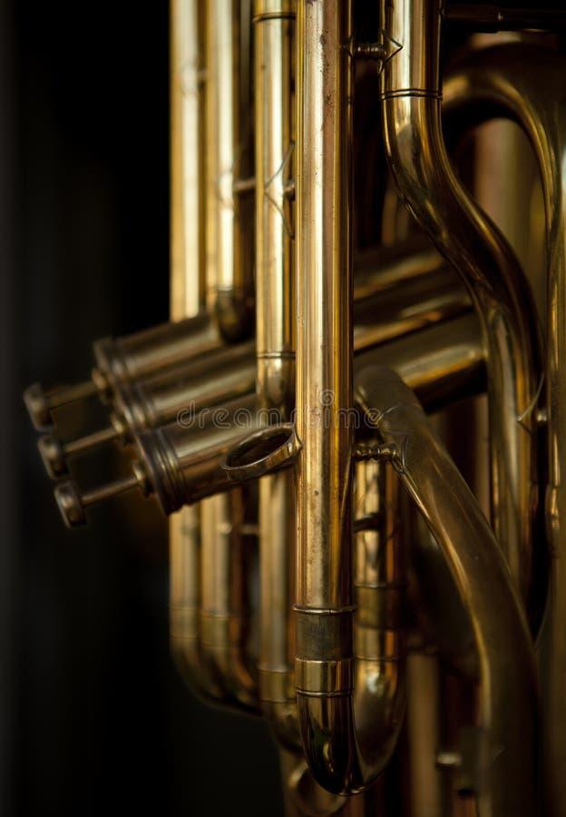 Brass Musical Instrument stock image