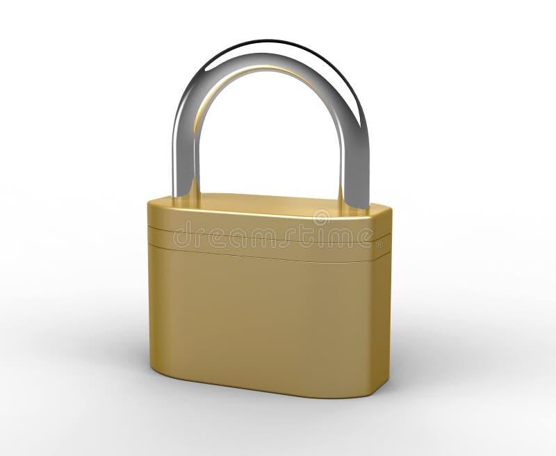 Download Brass padlock stock illustration. Image of safe, secure - 18038972