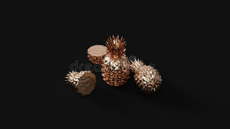 Brass Pineapple royalty free stock photography