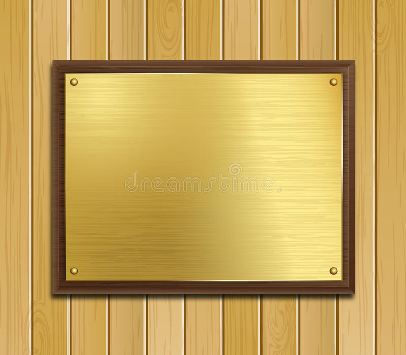 Download Brass Plaque stock vector. Illustration of panel, ceremonial - 26638466