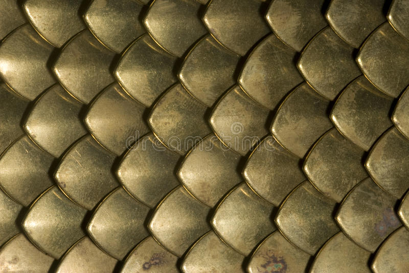 Brass plate chainmail closeup royalty free stock images