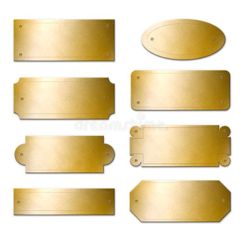 Free Brass Plates Stock Photography - 16364792