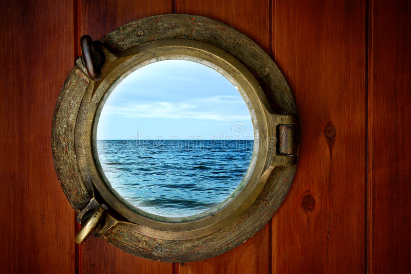 Brass Porthole Stock Photography