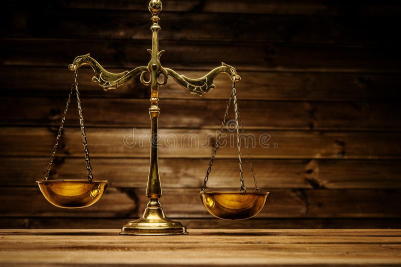 Brass scales stock photography