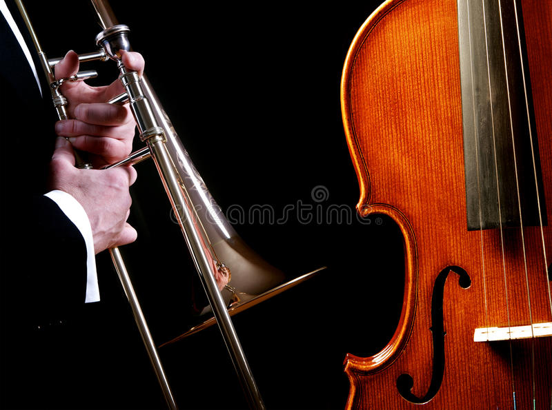 Download Brass And Stringed Instruments Stock Photo - Image: 24654704