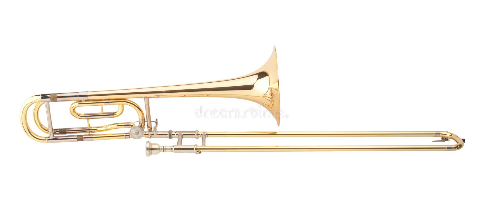 The brass trombone royalty free stock photography