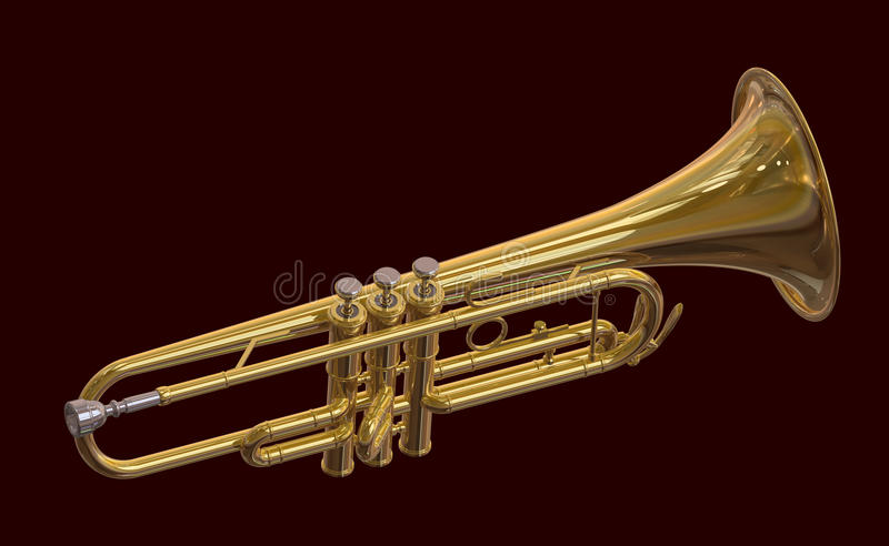 Brass Trumpet Royalty Free Stock Image