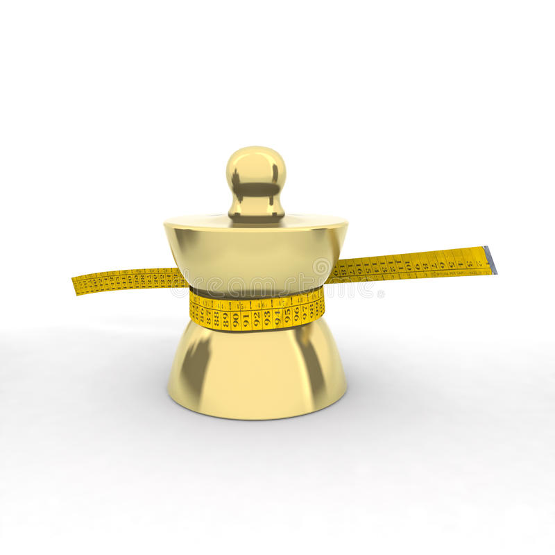 Download Brass Weight With Tape Meter Stock Illustration - Image: 20954323