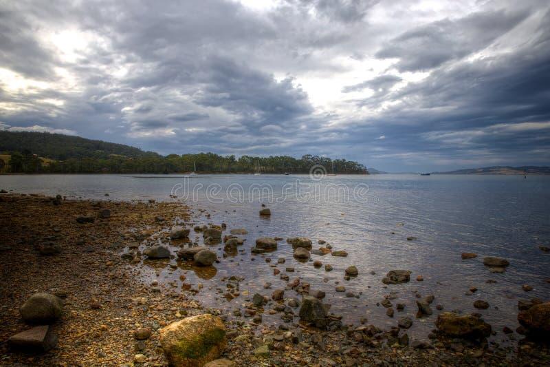 Brassage de tempête - Woodbridge, Tasmanie du sud photo libre de droits