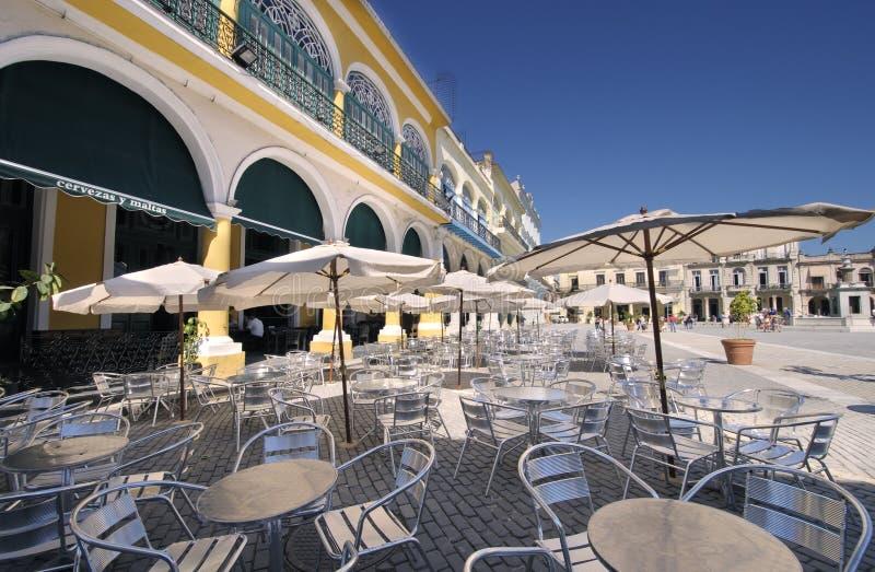 Brasserie dans vieille Havana Plaza photographie stock libre de droits