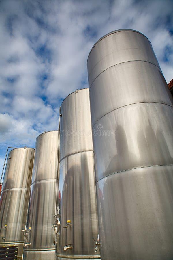 Brasserie de réservoirs en acier image stock