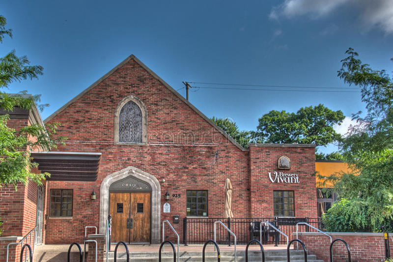 Brasserie Vivant à Grand Rapids Michigan photographie stock libre de droits
