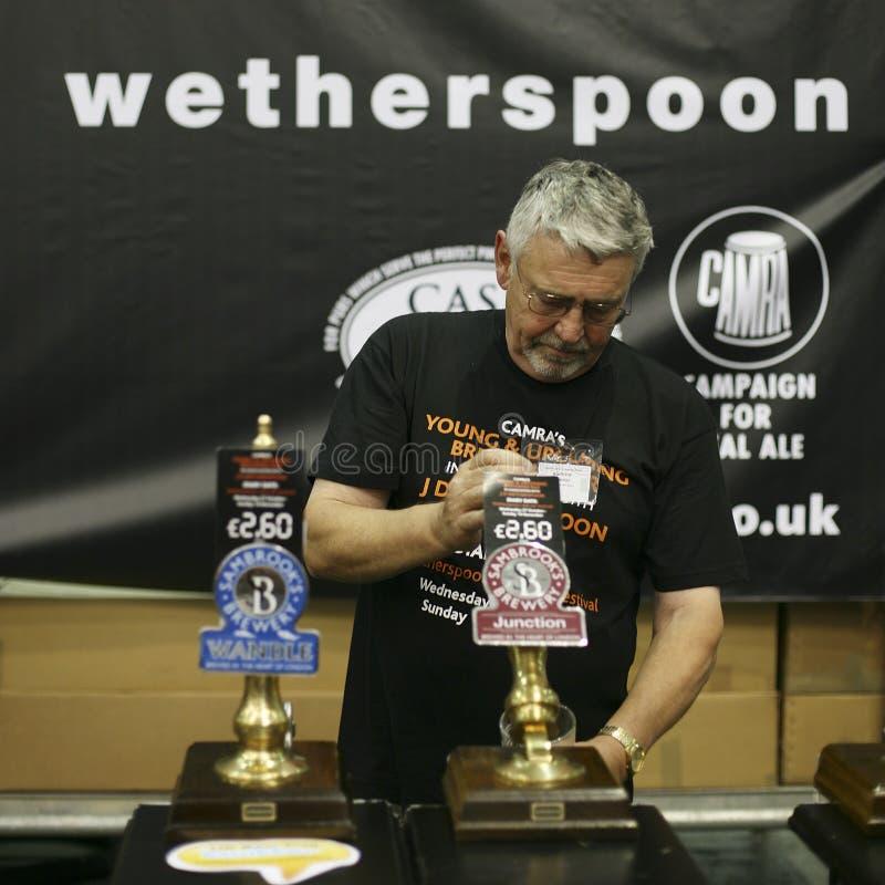 Brasseurs du festival britannique grand de bière photo stock