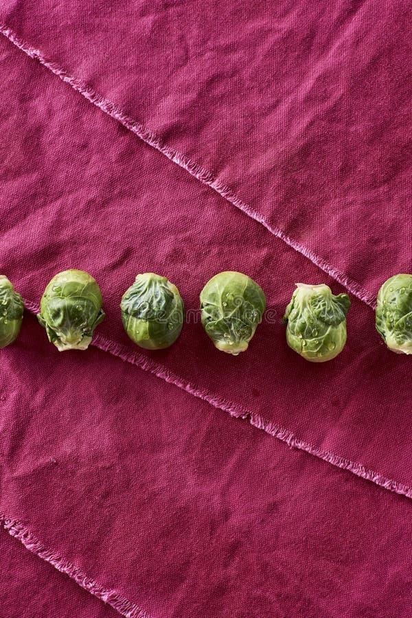 Brassica oleracea organica lavata fresca varietà dei cavoletti di Bruxelles gemm fotografia stock