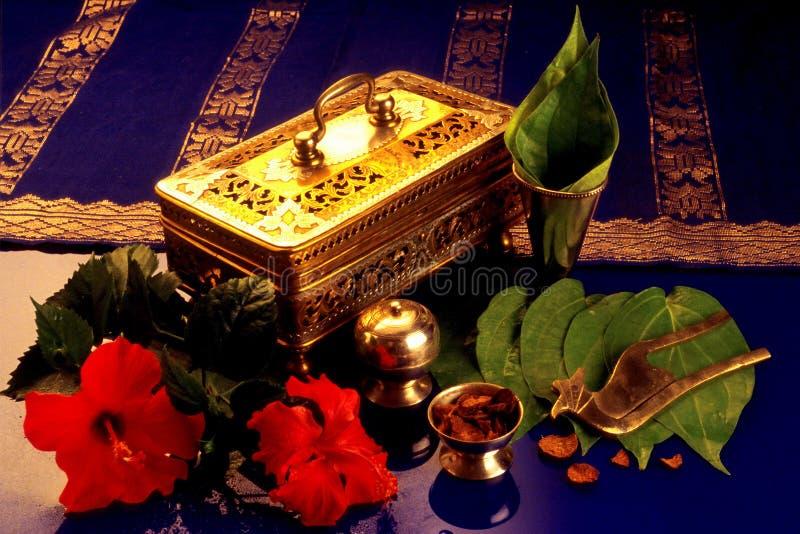 Brassware rękodzieła (Tepak Sireh) obrazy stock