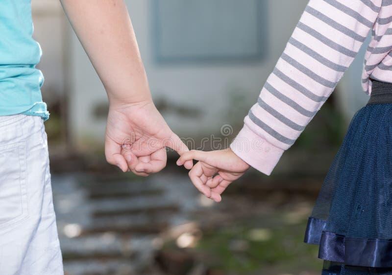 Brat i siostry trzyma ręka w rękę obrazy royalty free