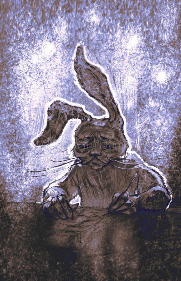 Brata królik zdjęcie stock