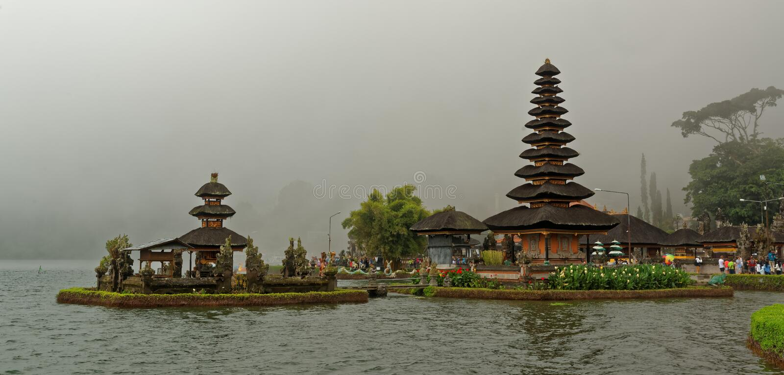 Bratan Temple in Bali. Pura Ulun Danu Beratan, or Pura Bratan, is a major Shaivite water temple on Bali, Indonesia. The temple complex is located on the shores stock images