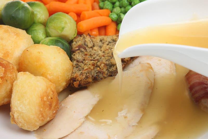 Braten-Huhn-Abendessen lizenzfreie stockfotografie