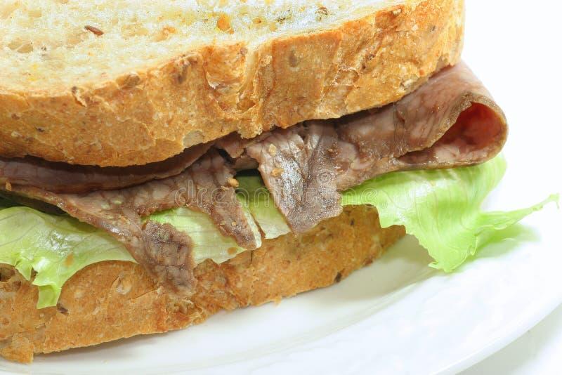 Braten-Rindfleisch-Sandwich stockfoto