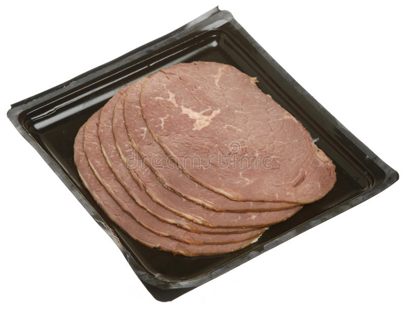 Braten-Rindfleisch-Scheiben stockbild