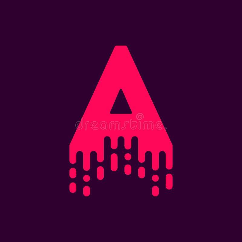 Bratenfett-Vektor Logo Letter A stock abbildung