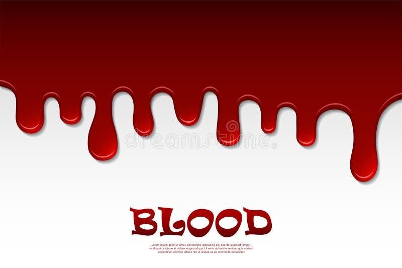 Bratenfettblutzusammenfassung Flüssige rote Flüssigkeit, Tropfen naß, Dekorgrenze lizenzfreie abbildung