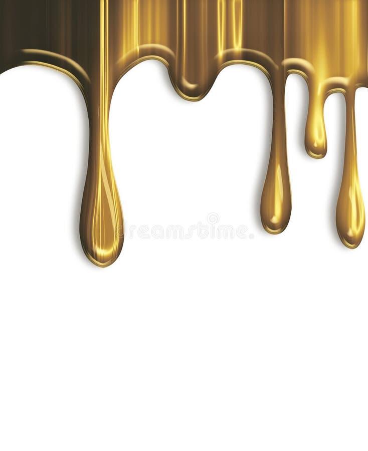 Bratenfettgold stock abbildung