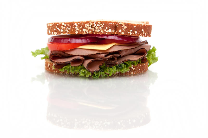 Bratenrindfleischsandwich stockbilder
