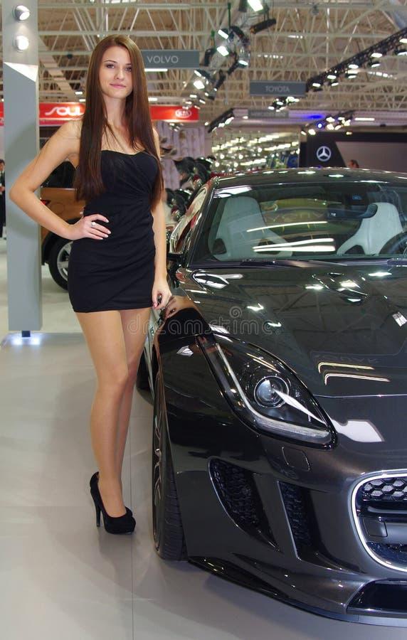 BRATISLAVA - 8 AVRIL : Salon de l'Automobile, le plus grand événement de voiture de l'année en Slovaquie images libres de droits