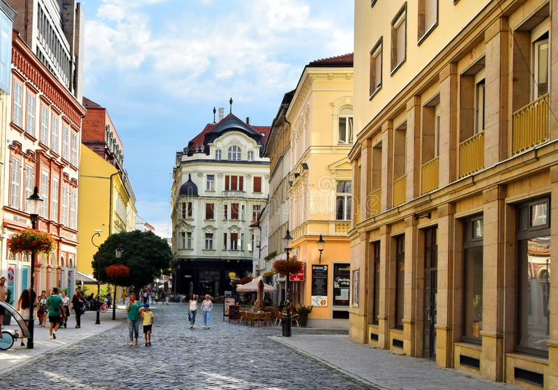 Bratislava. Is the capital of Slovakia. With a population of about 425,000, it is one of the smaller capitals of Europe but still the country`s largest city.[1 royalty free stock photos
