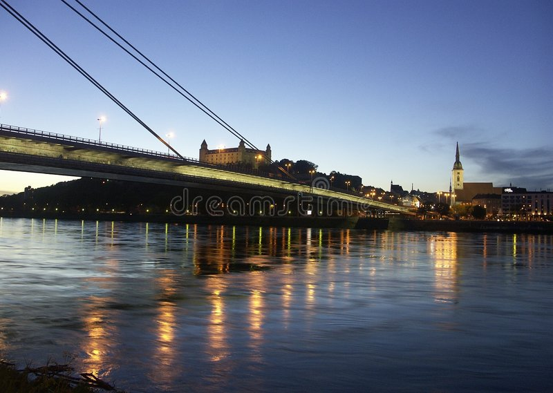 Bratislava Bridge Royalty Free Stock Photography