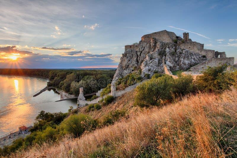 Bratislava, castillo de Devin, Eslovaquia fotos de archivo
