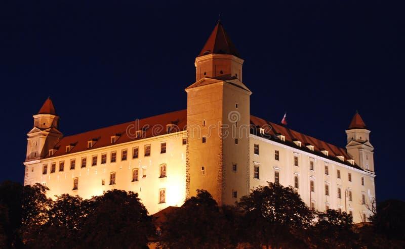 Bratislava castle 2. Bratislava castle in the night royalty free stock photos
