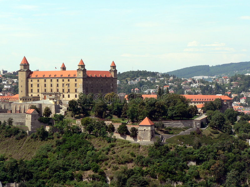 Bratislava Castle royalty free stock images
