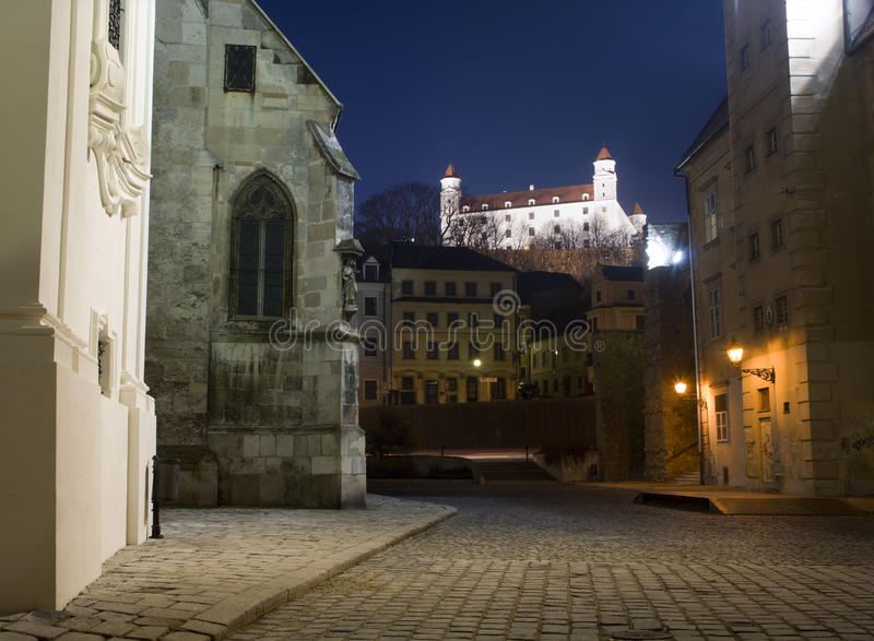 Bratislava - castle from the town stock photos
