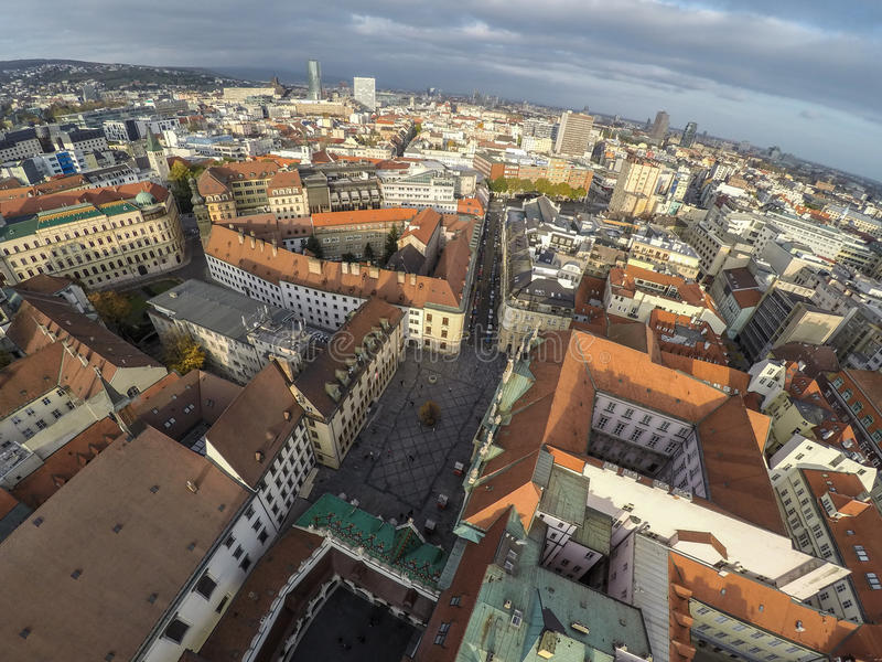 Bratislava da sopra fotografia stock