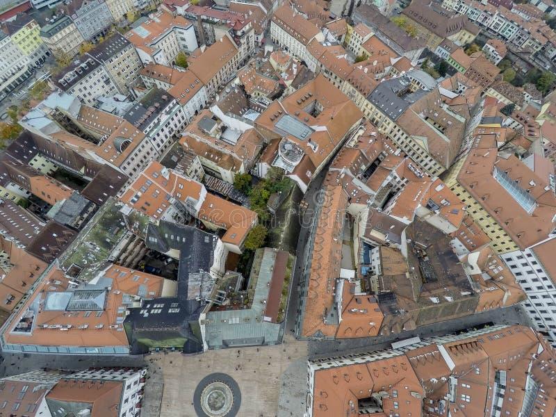 Bratislava da sopra immagine stock