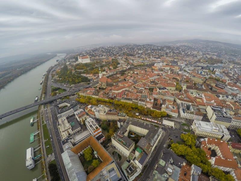 Bratislava da sopra fotografia stock libera da diritti