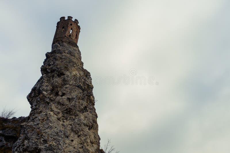 Bratislava, 20 de enero de 2019 eslovaco: La ruina de la torre de Devin Castle imagenes de archivo