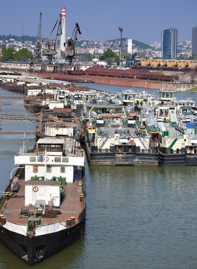 Bratislava docks. stock photography
