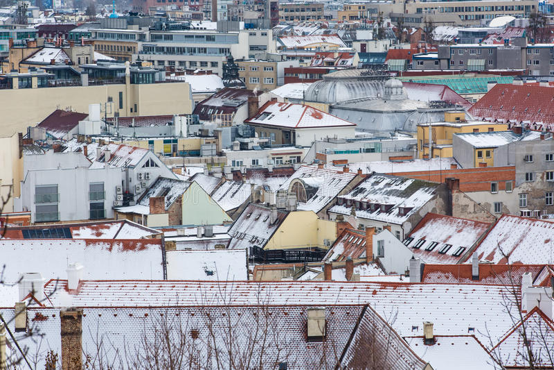 Download Bratislava, Eslováquia - 24 De Janeiro De 2016: Vista Da Cidade Foto de Stock - Imagem de europa, velho: 65580104