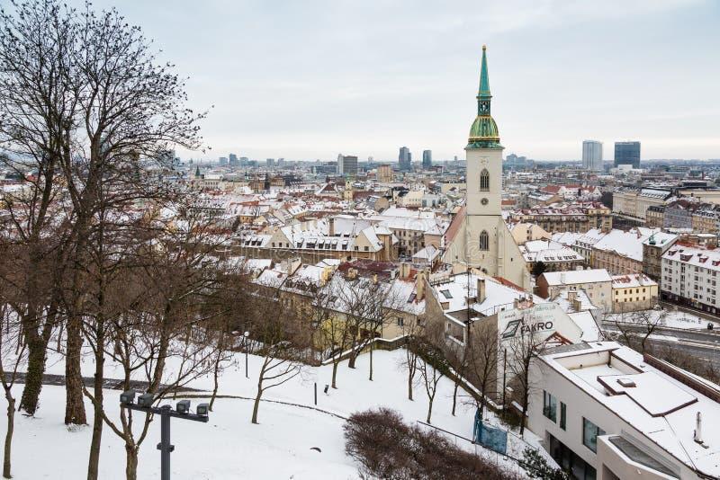 Download Bratislava, Eslováquia - 24 De Janeiro De 2016: Vista Da Cidade Foto Editorial - Imagem de cidade, historic: 65580896