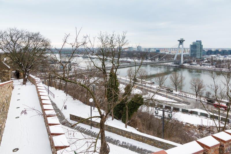Download Bratislava, Eslováquia - 24 De Janeiro De 2016: Vista Do Rio Dan Imagem de Stock Editorial - Imagem de curso, checoslováquia: 65581019