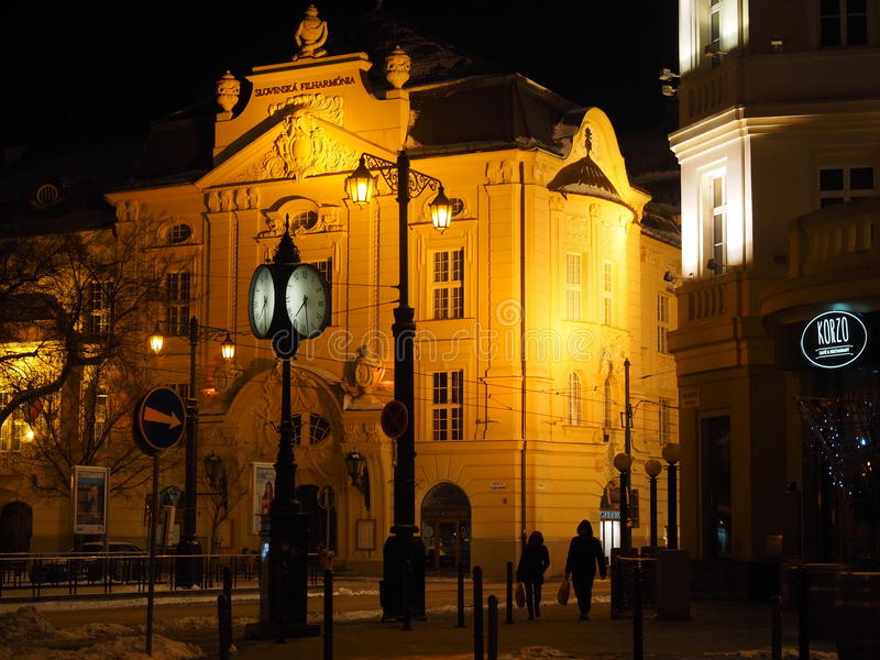 BRATISLAVA - Eslováquia 2016 filarmônico eslovaco foto de stock royalty free