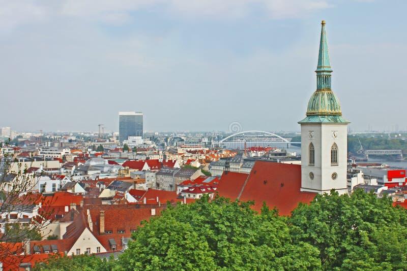 Bratislava, Eslováquia, vista superior fotografia de stock
