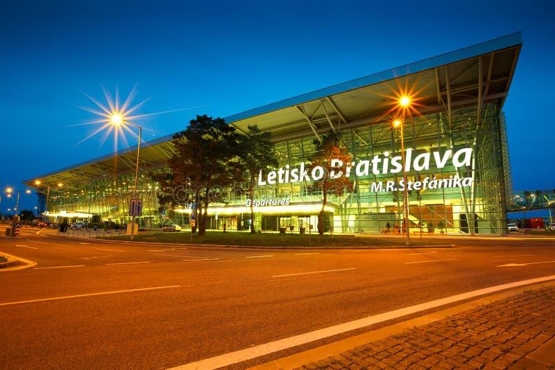 Bratislava flygplats fotografering för bildbyråer