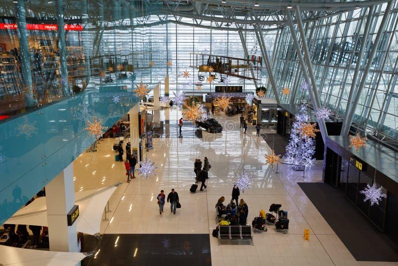 Bratislava flygplats royaltyfri foto